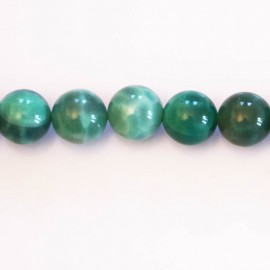 Agate peafowl 10 mm round bead