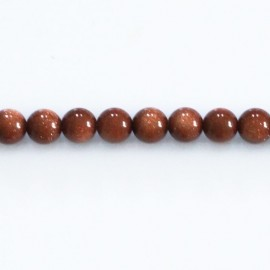Gold sand stone 6 mm round bead