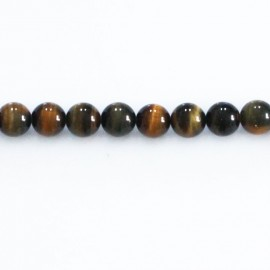 Tiger/falcon eye 6 mm round bead (2 colors mixed)
