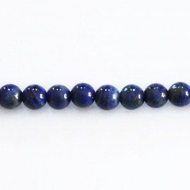 Lapis lazuli 5.5/6 mm round bead Afghanistan