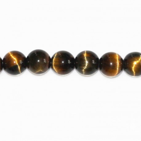Tiger/falcon eye 8 mm round bead (2 colors mixed)