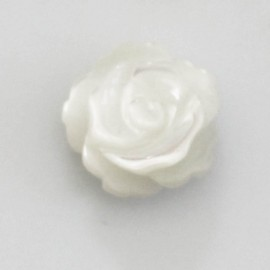 Nacre 8 mm rose blanche