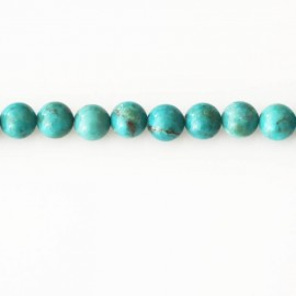 Turquoise 6 mm perle ronde chine