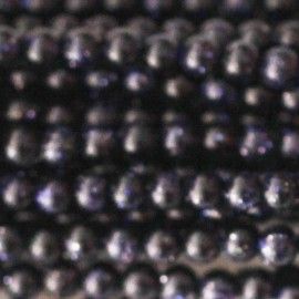 Blue gold stone 2 mm round bead
