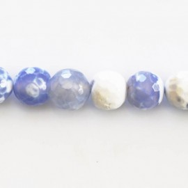 Agate bead 10 mm round faceted