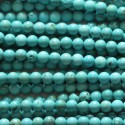 Howlite turquoise 4 mm perle ronde