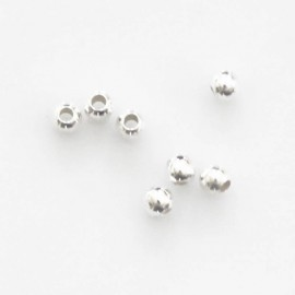 Bead 3 mm round diamond with 1.5 mm hole