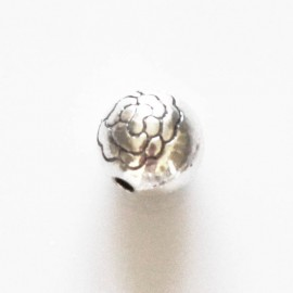 BeauMonde Jewelry - Engraved bead 8 mm silver