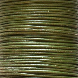BeauMonde Jewelry - Leather khaki 1 mm coil of 50 mt