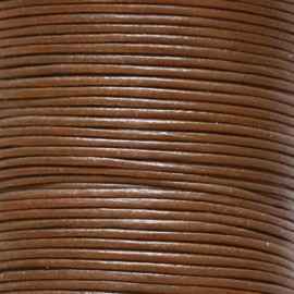 Leather caramel 1 mm coil of 50 mt