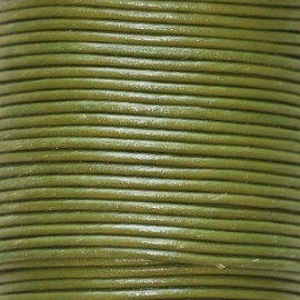 BeauMonde Jewelry - Leather khaki 1.5 mm coil of 50 mt