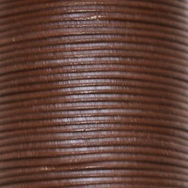 Leather chocolate 1.5 mm coil of 50 mt