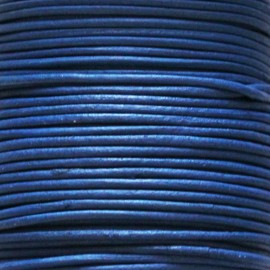 BeauMonde Jewelry - Leather 1.5 mm blue coil 50 mt