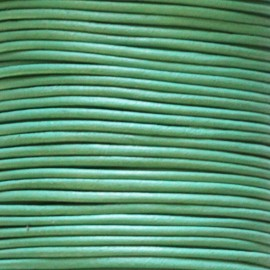 BeauMonde Jewelry - Leather 1.5 mm green/turquoise coil of 50 mt