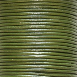 Leather 2 mm khaki coil of 50 mt