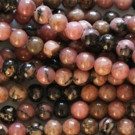 BeauMonde Bijoux -  Rhodonite 3 mm perle ronde