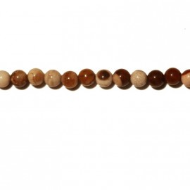 Agate coffee perle ronde 4 mm