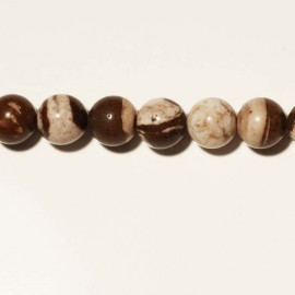 Agate coffee pearl round  smooth 6 mm