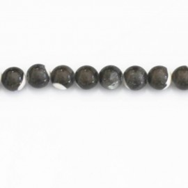 Nacre 6 mm perle ronde gris clair