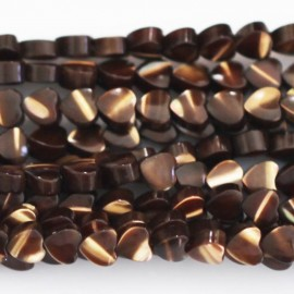 Nacre marron 4 mm coeur