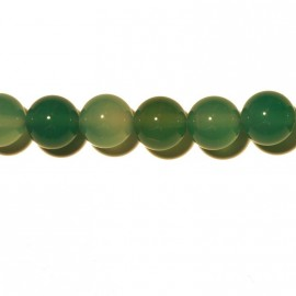Round green agate 8 mm