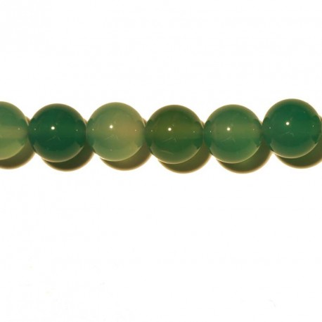 BeauMonde Jewelry - Agate green round 8 mm