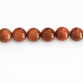 Gold sand stone 8 mm round bead
