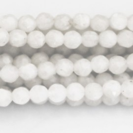 Moonstone white round faceted 4 mm