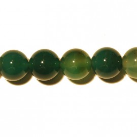 BeauMonde Bijoux - Agate verte ronde 10 mm