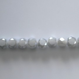 Bead 6 mm flat faceted