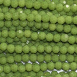 BeauMonde Jewelry - Glass bead 4 mm round faceted