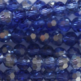 Glass bead 4 mm round faceted