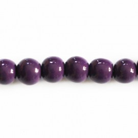 BeauMonde Jewelry - Wooden bead 8 mm round varnished