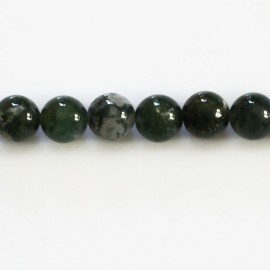 Agate moss 8 mm round bead Africa