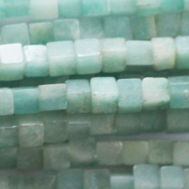 BeauMonde Bijoux - Amazonite 3x3 mm carré