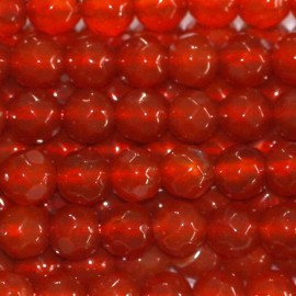 BeauMonde Jewelry - Carnelian bead 4 mm round faceted (agate red)