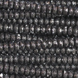 Hematite 2x4 mm faceted washer