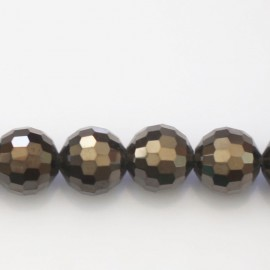 BeauMonde Jewelry - Glass bead 12 mm round faceted