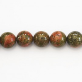 Unakite 10 mm round bead