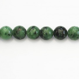 Rubyzoisite 10 mm round bead