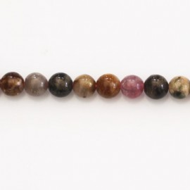 BeauMonde Bijoux - Tourmaline 6 mm perle ronde mixte