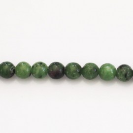 Rubyzoisite 6 mm round bead