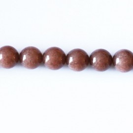 BeauMonde Jewelry - Dyed jade 8 mm round bead