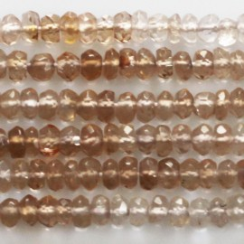 Topaz imperial 4 mm washer faceted Africa