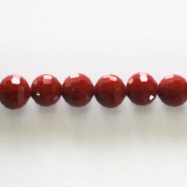 Bead 8 mm round faceted