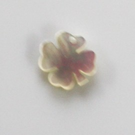 BeauMonde Jewelry - Pendant clover 10 mm white mother-of-pearl 1 hole