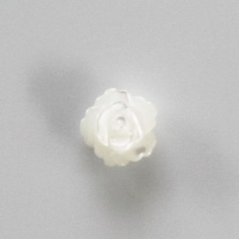 Nacre blanche 8 mm motif rose