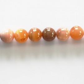 BeauMonde Jewelry - Agate orange 7 mm round natural Madagascar