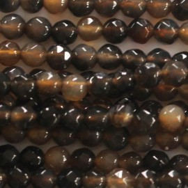 Agate 4 mm bead round faceted