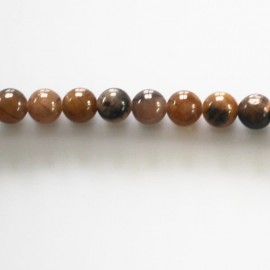 BeauMonde Jewelry - Chiastolite 6 mm round bead